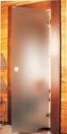 Дверь стеклянная «сатин»  Eesti Sauna