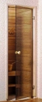 Дверь стеклянная «бронза»