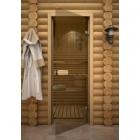 Дверь стеклянная Linden бронза