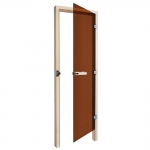 SAWO Дверь 730 - 3SGА, бронза, правая, без порога, осина, 690мм х 1890мм