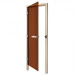 SAWO Дверь 730 - 3SGA, бронза, левая, без порога, осина 690мм х 1850мм
